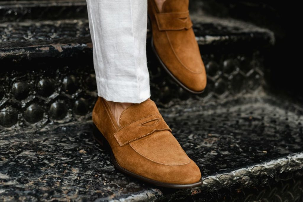Men's Shoe Paul Evans NY | The Cacao Stewart Penny Loafer