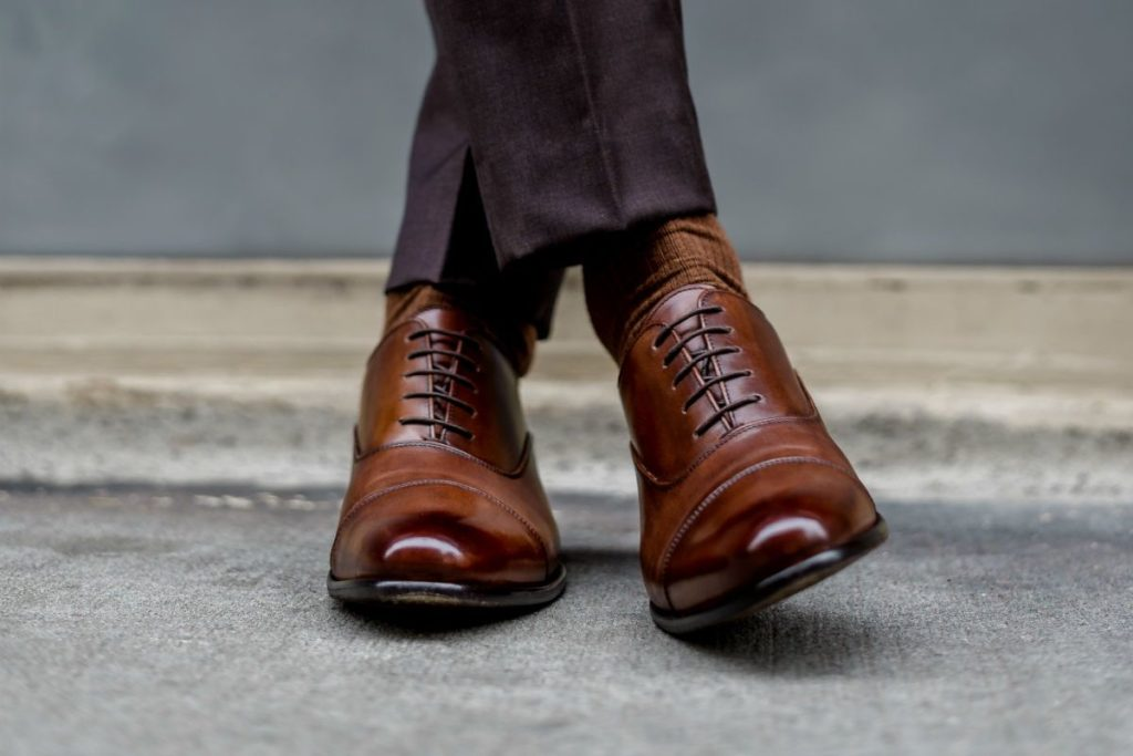Men's shoe Paul Evans NY | The Marrone Cagney II Stitched Cap-Toe Oxford