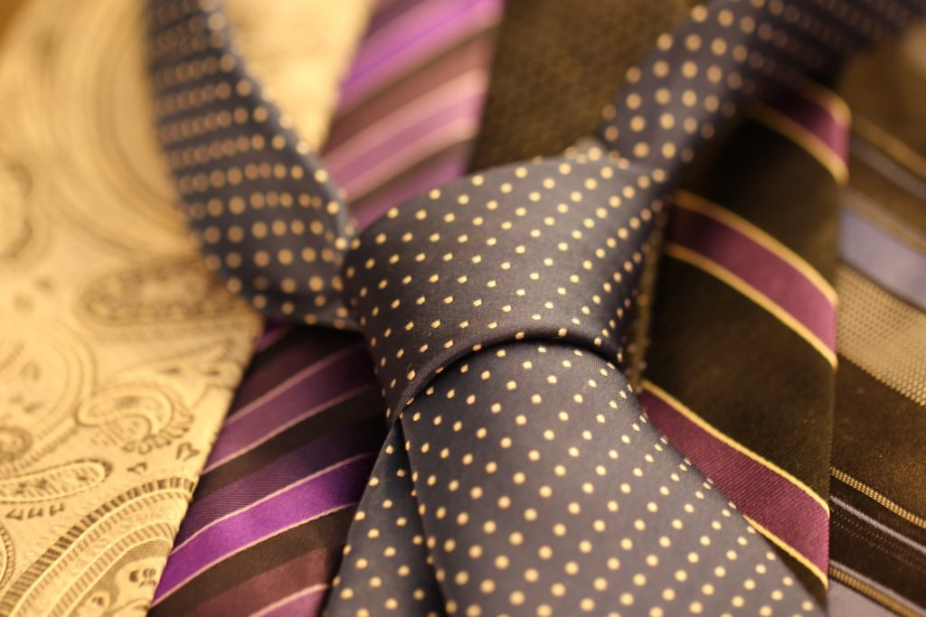 An image of ties for young professionals