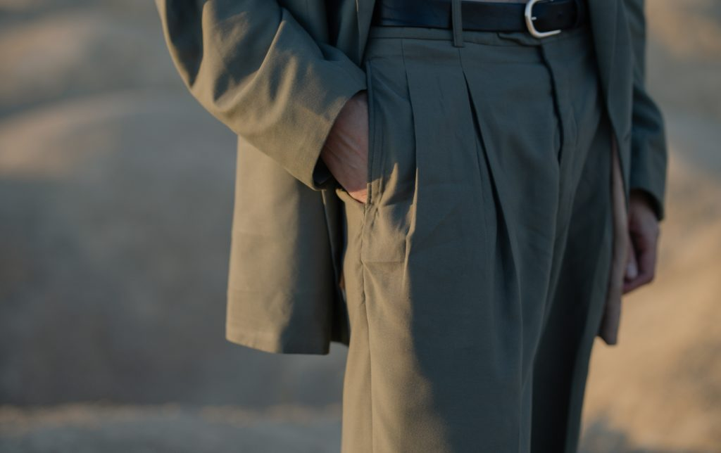 An image of professional looking gray slacks
