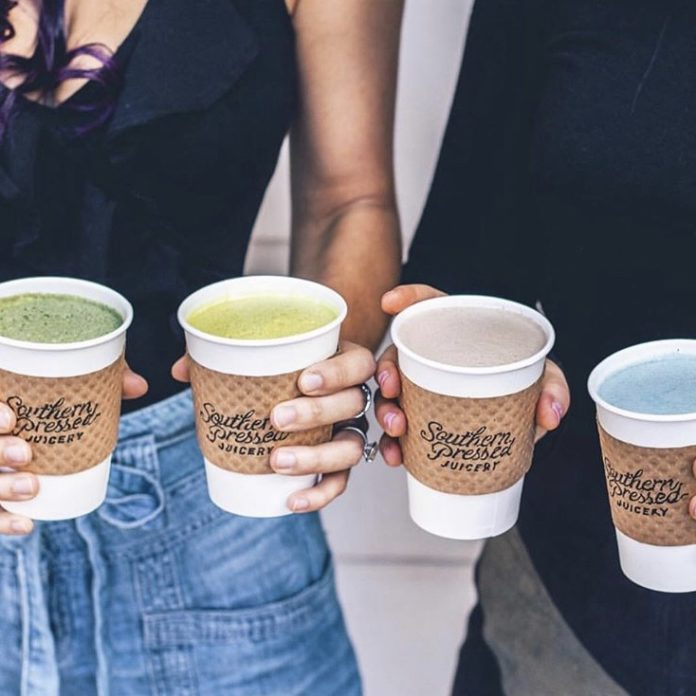superfood lattes at Southern Pressed Juicery